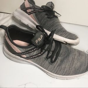 FILA gray/pink RARE athletic shoes